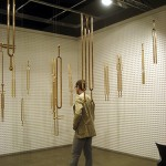 """Empty Voices"", 2011, Installation, Art Basel Miami Beach / Art Positions, Acoustic Foam and Cast Bronze"