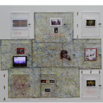 """Jack Pound Financial Art Project"", 2012, MAM- SP, acrylic safes, locks, keys, investments in paper, process objects, London map, colour markers, paint, drawings and others, photo: Ricardo Lima"