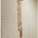 """Empty Voices"" (detail), 2011, Installation, Art Basel Miami Beach / Art Positions, Acoustic Foam and Cast Bronze, 120x60x40 cm"