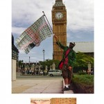 """Jack Pound Financial Art Project"", 2009-2010 (London, UK), England flag made with a thousand sterling pounds"
