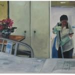 """""""Horário de Visitação""""[""""Visiting Hour""""], 2011, oil on canvas, 225x160cm"""