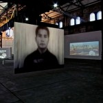 """88 from 14.000"", video-projection, Phoenix Halle, Dortmund, Alemanha"