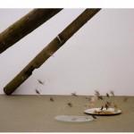 """""""Um gato, uns pássaros e as estrelas"""", 2007, installation"""