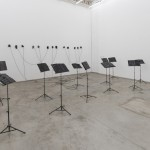 "View of the installation ""Bach's Rest"" in the exhibition ""Notações"" at Galeria Vermelho"