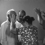 'A Família do Capitão Gervásio' [Captain Gervasio's Family], Tamar Guimarães and Kasper Akhøj, 2013/2014. 16mm film, soundtrack, concrete and reclaimed wood. Film still.