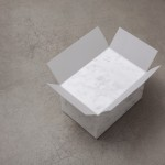 """Full box"", 2014, marble and tracing paper, 14 x 24 x 17 cm"