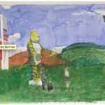 """Tigre""[""Tiger""], 2011, oil on canvas, 300x240cm"