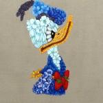 Flora Americana, serie retratos, oleo sobre linho 100 x 80 cm, 2011