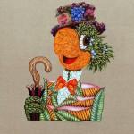 Flora Carioca, serie retratos,  oleo sobre linho 100 x 80 cm 2011