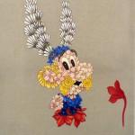 Flora Francesa, serie retratos, 2011 oleo sobre linho 100 x 80 cm