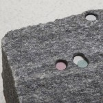 Untitled (detail), 2014, granite and paper, 14 x 26 x 15,5 cm