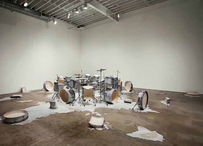 """Half of the speech is on the ground - drums""