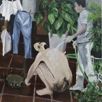 """Varal""[ ""Clothes Lines""] , 2012, oil on canvas, 260x260cm"