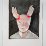 """Chifrinho""[""Horns""], 2014, watercolor, 44x34cm"