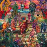 """""""A Rébis Mestiça Coroa a Escadaria dos Mártires Indigentes"""", 2013, oil on canvas, 390x360 cm"""