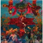 """""""O Corte Azimutal do Mundo e o Nascimento da Vênus Escrava Sob os Prantos das Donas do Atlântico"""", 2013, oil on canvas, 520x360 cm"""
