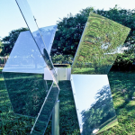 Cata-vento (Weather-vane) | Brasília, 2000 | Intervention in the landscape | Detail | steel, acrylic and semitransparent reflective film