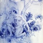 """""""Políptico"""" (detail), 2014, acrylic on linen, 20x180 cm"""