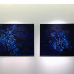 "Untitled, 2014, acrylic on linen, 100x120 cm (each), installation view at exhibition ""Dusk to down… Threads of infinity"""