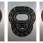 Circuit Painting- Smoke Head 1, 2 and 3. Enamel on canvas. 220 x 160 cm. 2005