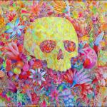"Untitled (""Caveirão""), 2012, acrylic on canvas, 200x200 cm"