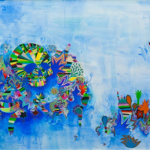 Untitled, 2011, acrylic and pen on paper, 96x156 cm, photo: Guilherme Gomes
