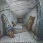 British Museum [túnel e espiral com formas-constantes], 1991, 66 x 68 cm, óleo sobre tela.