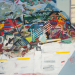 Landscape nº35, acrylic and oil on canvas, 140 x 180 cm, 2010.