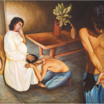 Cena familiar ( a psicopatologia da vida cotidiana), 2005, 92x130cm, oil on canvas