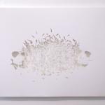 """Vanitas"", 2010, cut out paper (detail), 42 x 59,4cm"