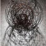 """""""Mão de pilão"""", 1989, woodcut matrix, 80x30cm"""