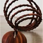 """Matriz de topo"", 2011, woodcut (Umbarana), 40cm diameter"