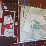 Studio nº12, acrylic and oil on canvas, 150x230cm, 2007.