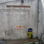 Deixe-me So, 2010, graffiti in abandoned house in Sao Paulo, site specific