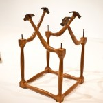 """Cube of hammers"", 2006/2012, wood carving, 45x45x69 cm, private collection"