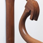 """Mahogany Hammer""(detail), From the series ""Fables"", 2011/2012, object, wood, 60x5x40 cm, edition: 1/4, private collection"