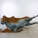 """Horse"", 2013, bronze and soil, 350x220cm approx."