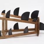 Banco tubarão, Bancos Confortáveis series 2015, wooden bench and iron Edition: N/A, 45 x 70 x 30 cm