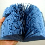 """Romance para ser lido sob a chuva"" [""Romance to be read in the rain""], 2008, shredded book, 14,5 x11x3 cm"