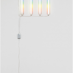 """Paulista"", 2014, modified fluorescent lamps (and electric installation), variable dimensions, 75×300 cm (aprox.)"