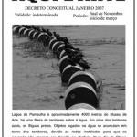 """Aqui é Arte - Flyer"", 2006, Flyer-offset printing on paper, 12x22cm"