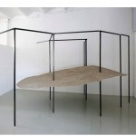 """Duna economica/Maqueta sin calidad"", 2011, steel modular structure, fiberglass, sand 353x247x80 cm the dune, variable dimensions overall"