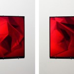 """Hologram 6"", 2013 (structure with silkworm) Hologram ultimate holography 27x18, 5 cm."
