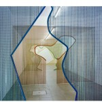 """""""/ (- \"""" 2013 aluminum chain curtains Kriska ® frames and steel with electrostatic painting. Nuno Centeno Gallery in Porto, Portugal."""