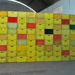 """""""Parede da Memória"""" [ """"Wall of Memory""""], 2012, beer containers, variable dimensions"""