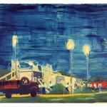 Bruno Dunley, Caminhao vermelho, 2011, oleo sobre tela,