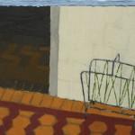 Bruno Dunley, Quer morar em todas as casas que vê e imagina III, 2008, óleo e cera sobre tela, 31x40 cm