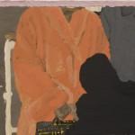Bruno Dunley,Casaco laranja, 2008,óleo e cera sobre tela, 31x40cm