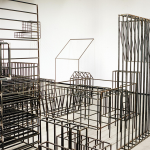 Detail of the installation ''Entonces'', 2004, steel, variable dimensions