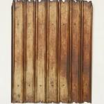 """Corrosivo'[""Corrosive""], 2005, iron sheets, 90x71cm"